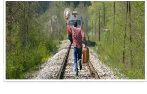 courrir derriere train