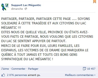 page FB support